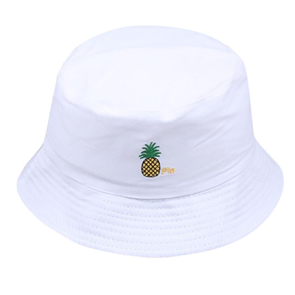 Men Women Pineapple Bucket Hat Hip Hop Fisherman Panama Hats Embroidery Cotton Outdoor Summer Casual Swag Bob Visor Bucket Cap
