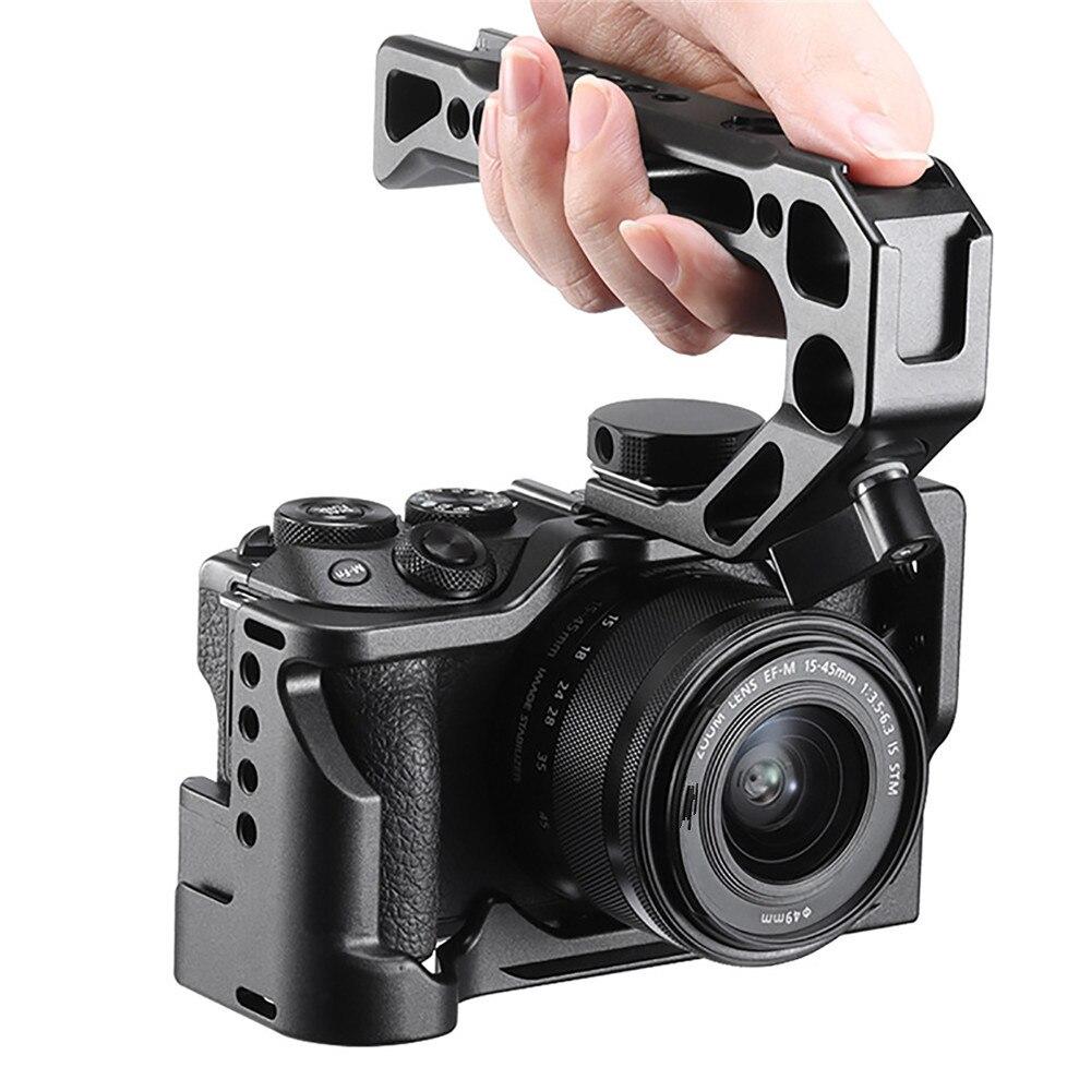 Práctica jaula de Metal para cámara Canon M6 Mark II montaje de soporte de liberación rápida