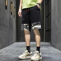 2021 men casual shorts summer pockets camouflage pants knee length shorts men pants black gray beach shorts