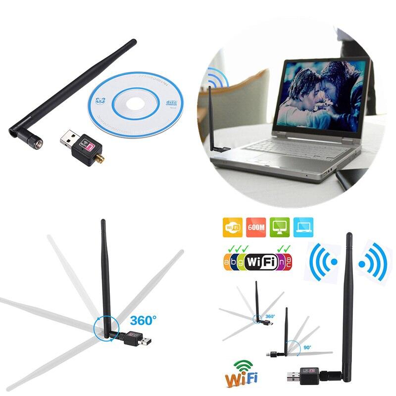 2,4 ГГц USB беспроводной Wi-Fi адаптер 600 Мбит/с 802.11n USB Ethernet адаптер Сетевая карта Wi-Fi приемник для ПК