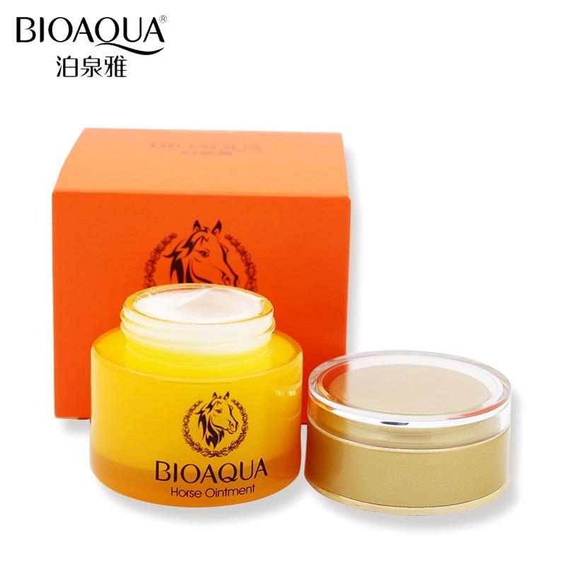 BIOAQUA Horse Oil Skin Care Whitening Deep Hydrating Moisturizing Face Cream Anti Wrinkle Anti-Aging Face Care Day Cream 50g недорого