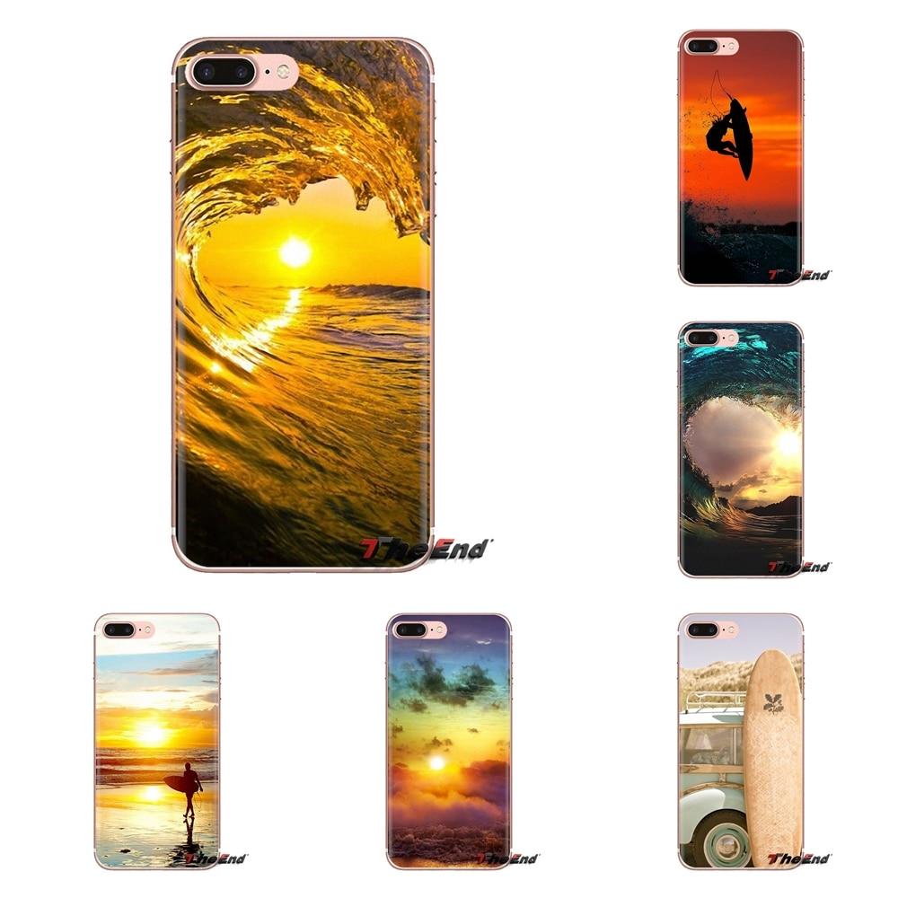 Para Xiaomi Redmi 4A S2 nota 3S 3S 4 4X4 5X5 6 Plus 7 6A Pro teléfono móvil F1 cubierta suave transparente para Surfing sunset sea
