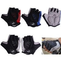 Велосипедные перчатки с открытыми пальцами для мужчин и женщин, уличные спортивные Нескользящие Гелевые перчатки, мотоциклетные велосипед...