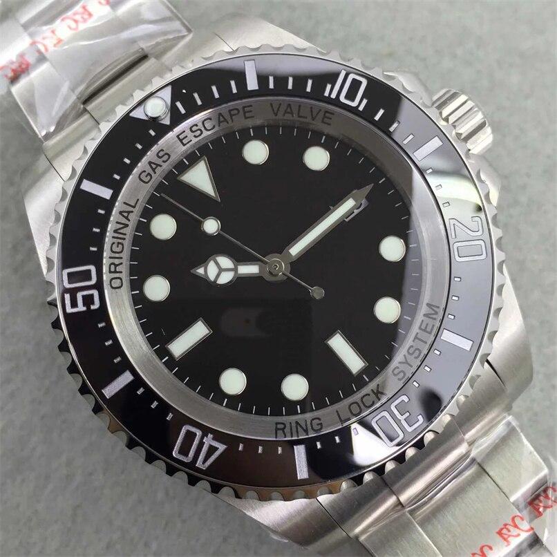 Deepsea 44mm Classic New Men Ceramic Bezel Stainless Steel Automatic Mechanical Black Blue Green Casual Sapphire  Watch AAA+