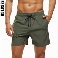 escatch brand 2021 mens stretch swim trunks quick dry beach shorts with zipper pockets and mesh lining es801
