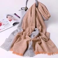 100 wool scarf for women winter plaid shawls and wraps for ladies brand echarpe pashmina plaid warm scarves wool foulard femme