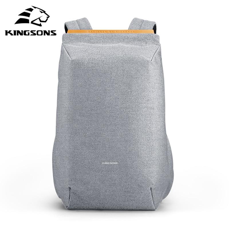 Kingsons-حقيبة ظهر للرجال مضادة للسرقة ، حقيبة ظهر متعددة الوظائف ، مقاومة للماء ، 2021 بوصة ، حقيبة كمبيوتر محمول ، شحن USB ، 15.6