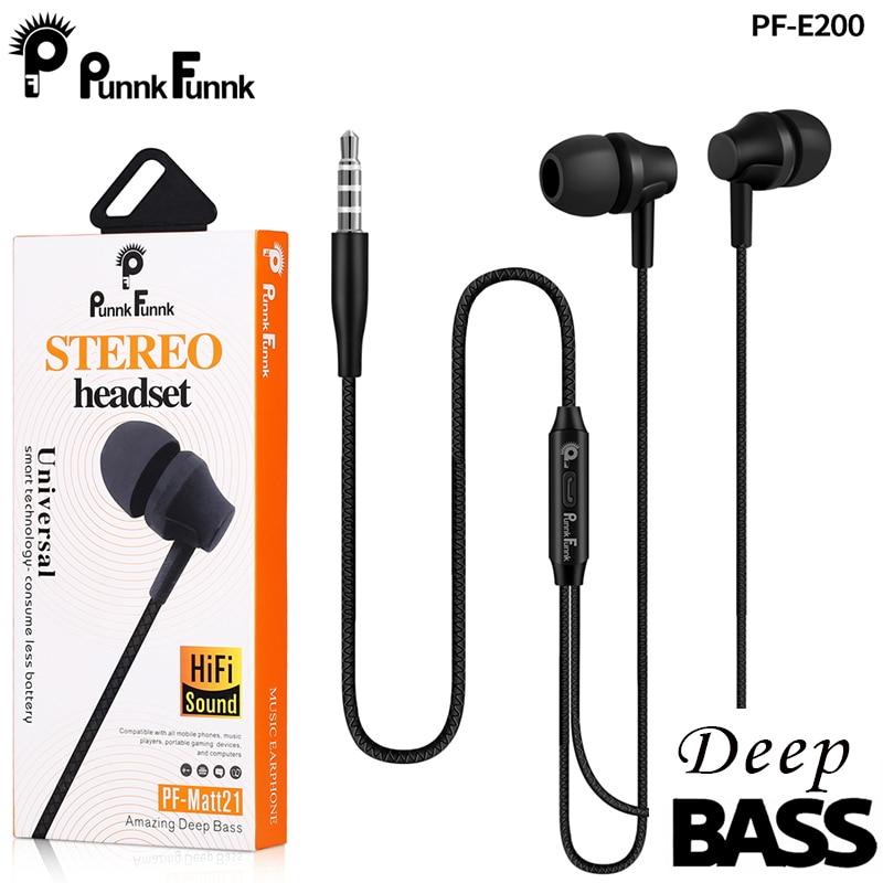 PunnkFunnk-auriculares intrauditivos estéreo de graves profundos, deportivos, con micrófono, para xiaomi, iPhone, Samsung