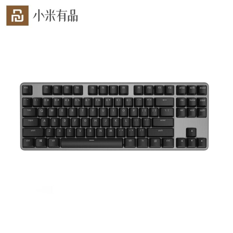 [해외] 오리지널 Youpin yuemipro MK02 유선 게이밍 기계식 키보드 체리 레드 스위치 흰색 백라이트 87 키 안티 고 스팅, 유선 게이밍 기계식 키보드