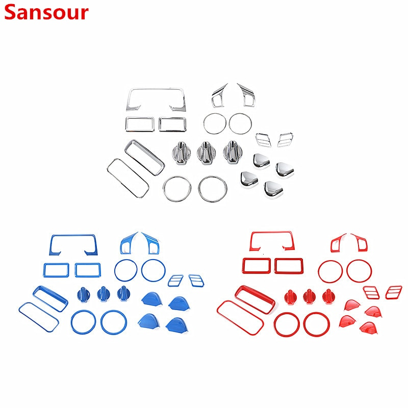 Sansour Automotive Interior Stickers for Jeep Wrangler TJ 1997-2006 Car Interior Decoration Cover Kit Accessories for Jeep TJ