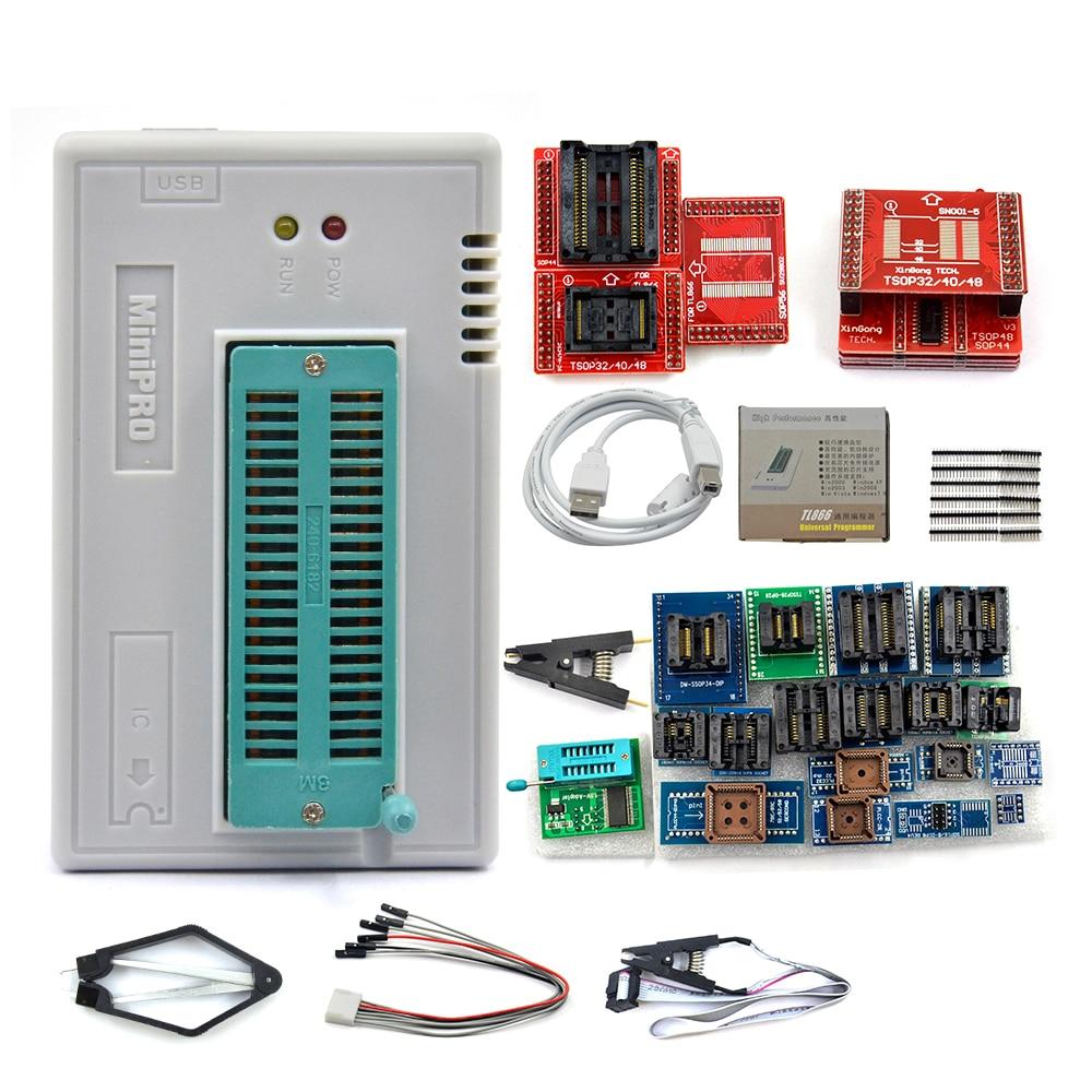 Оригинальный V11.11 Minipro TL866II Plus USB программатор с поддержкой 16000 + IC SPI Flash NAND EEPROM MCU PIC AVR высокое качество