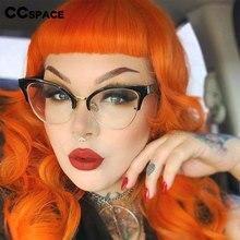 45640 demi-cadre oeil de chat creux lunettes cadres femmes tendances optique mode ordinateur lunettes