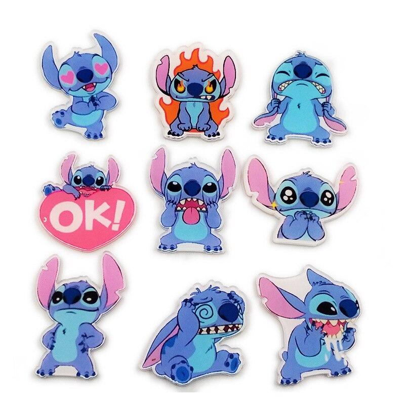 Disney criativo dos desenhos animados emblema ponto acrílico pinos para mochilas bonito emblema presentes para crianças kawaii pinos emblemas para roupas pinos