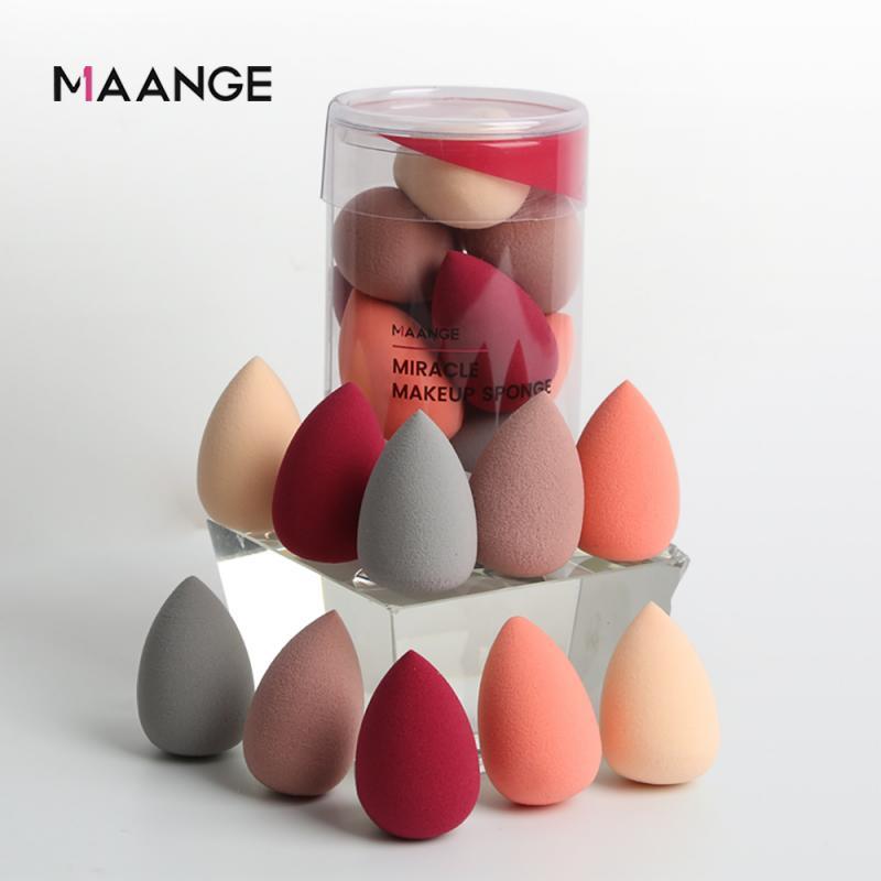 MAANGE, 10 Uds., esponja no de látex, súper Mini base correctora en polvo, suave esponja cosmética, esponja para maquillaje, herramientas de belleza