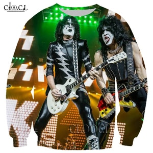 HX Newest Rock Metal Kiss Band 3D Print Men Women Hip Hop Sweatshirt Unisex Casual Harajuku Autumn Hot Selling Tops DropShipping