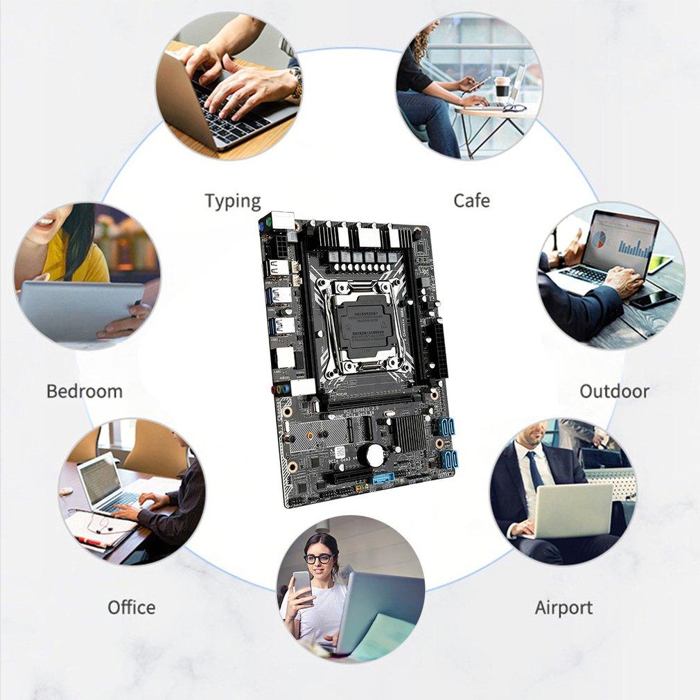 Motherboards With Xeon E5-2620v3 LGA2011-3 Processor Usb 3.0 X99 GT NVME M.2 SSD WIFI Support DDR4 ECC REG RAM enlarge