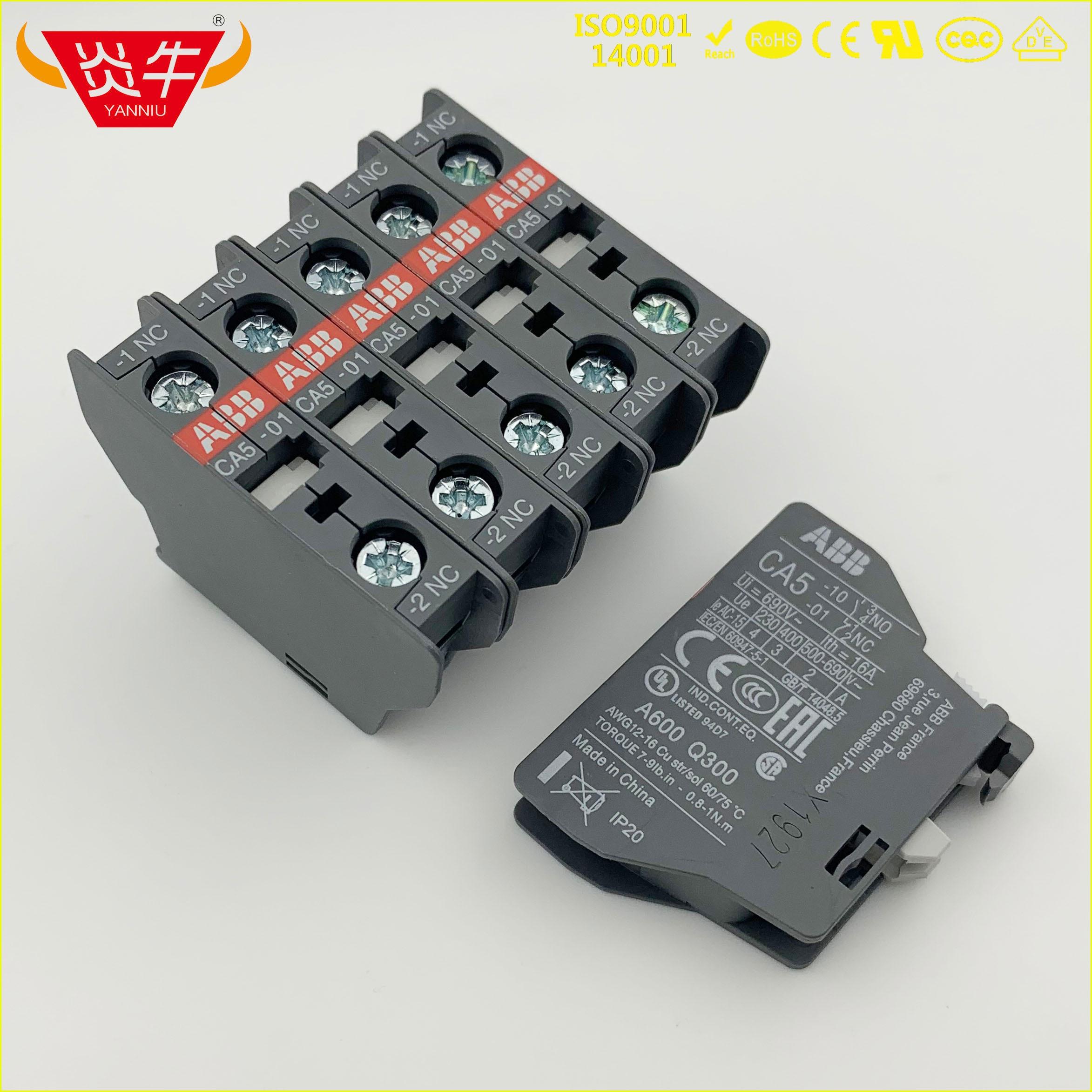Anexo auxiliar CA5-01 1nc CA5-10 1no do contato do contator da c.a. de 10 pces abb