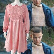 Film étranger choses Cosplay Costumes onze robe noël rose femmes Super puissance fille Halloween robe une pièce cadeau