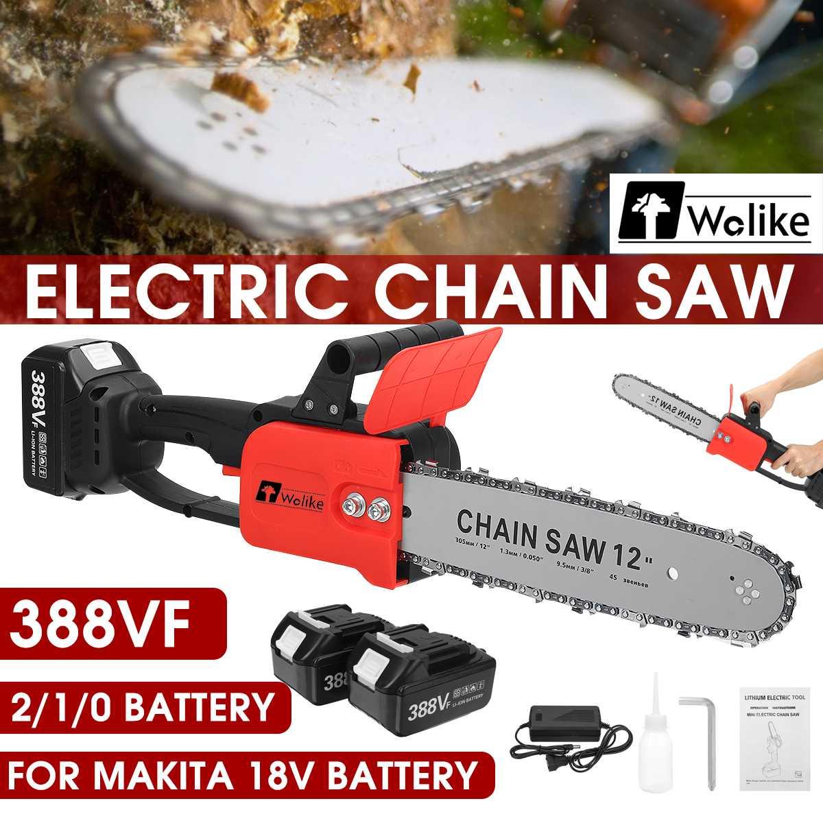 3500 واط 388VF 12 بوصة منشار كهربائي صغير بالمنشار حديقة شجرة تسجيل المنشار أدوات النجارة قواطع الخشب لبطارية Makiita 18 فولت