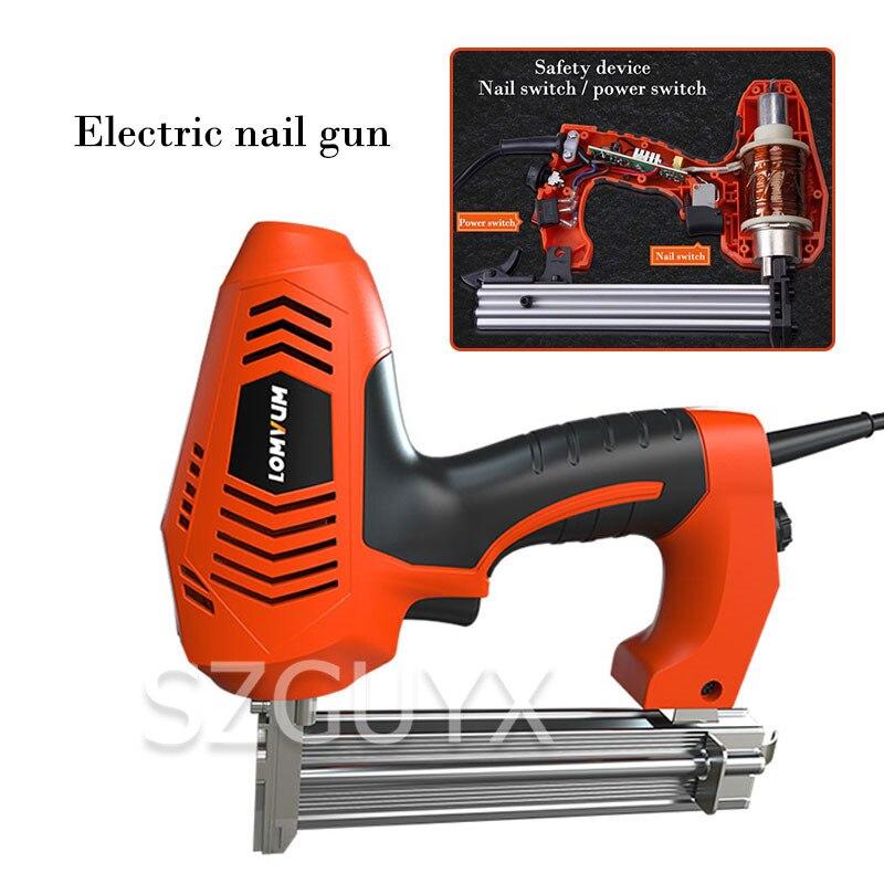 2300W Code droit double usage cloueur électrique pistolet à ongles outils de travail du bois planche plaques en plastique pistolet à ongles