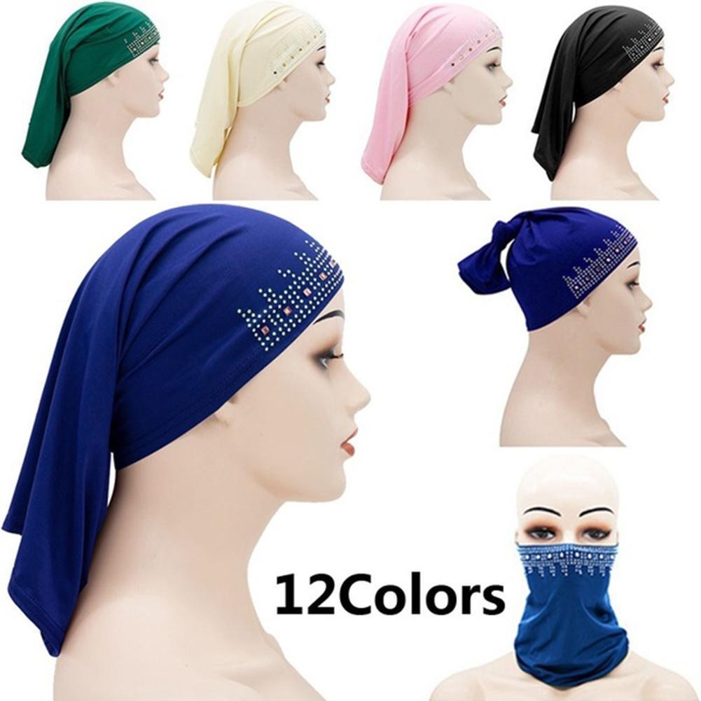 Mulheres muçulmanas lenço turbantes cabeça para mulher headscarf boné hijabs underscarf mulher quimio hijab caps u2w3