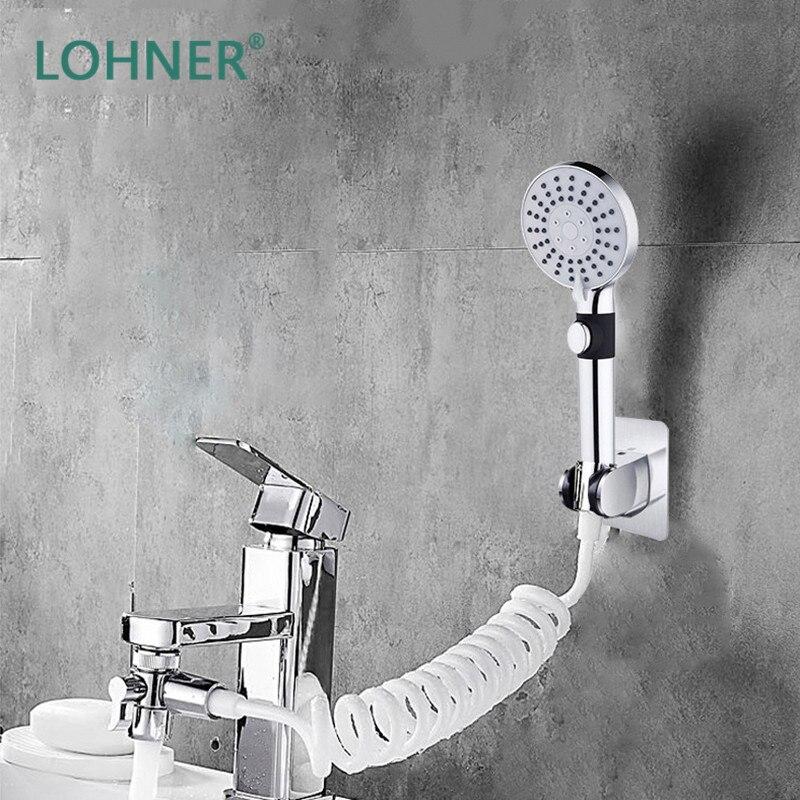 ¡Nuevo! Lohner botón, Cabezal De lavado, accesorios De Ducha De mano, soporte...