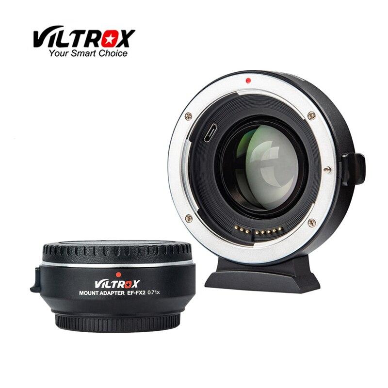 Viltrox EF-FX2 السيارات-عدسات تركيز محول الاتصال المخفض الداعم 0.71x لكانون EF عدسة ل فوجي فيلم X جبل X-T3 X-PRO2 X-T100 X-H1