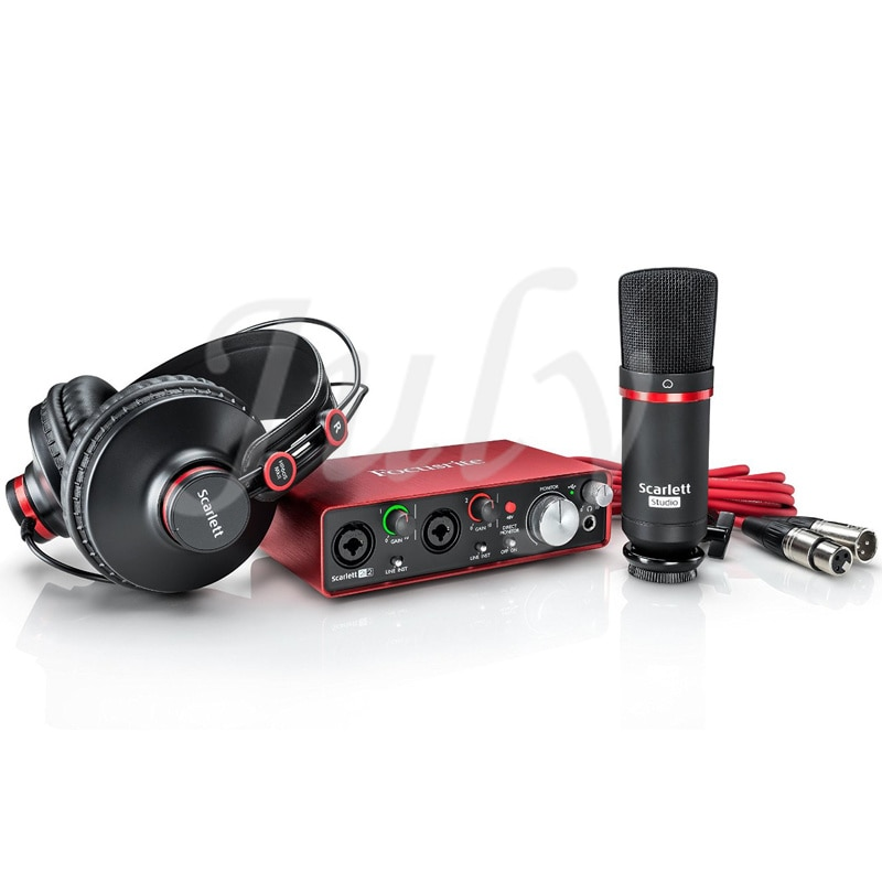 Neue Scarlett 2I2 set (3rd generation Studio aufnahme soundkarte + mikrofon + kopfhörer), 24Bit/ 192KHz abtastrate