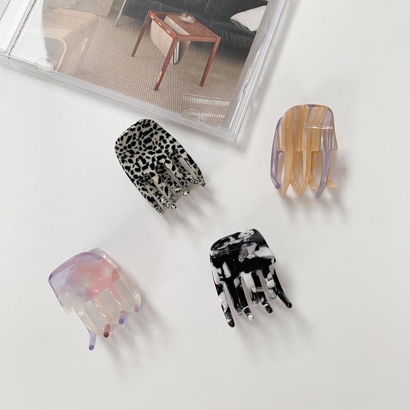 H:HYDE Fashion Hair Accessories For Woemn Headdress Acetate Hair Claws Leopard Square Hair Clip Crab Small Hairpins For Women