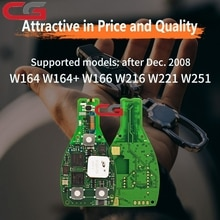 Démarrage à une clé dorigine CG MB FBS3 Smart KeylessGo pour Mercedes 315MHZ pour W164 W166 W216 W221 W251 avec Logo 3/4 boutons