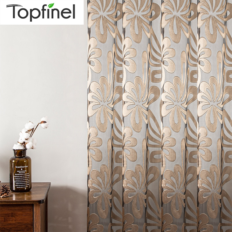 Sheer Curtains Geometric Window Tulle Curtains Jacquard Curtains For Living Room Bedroom Panels For Kitchen Custom Made Curtains