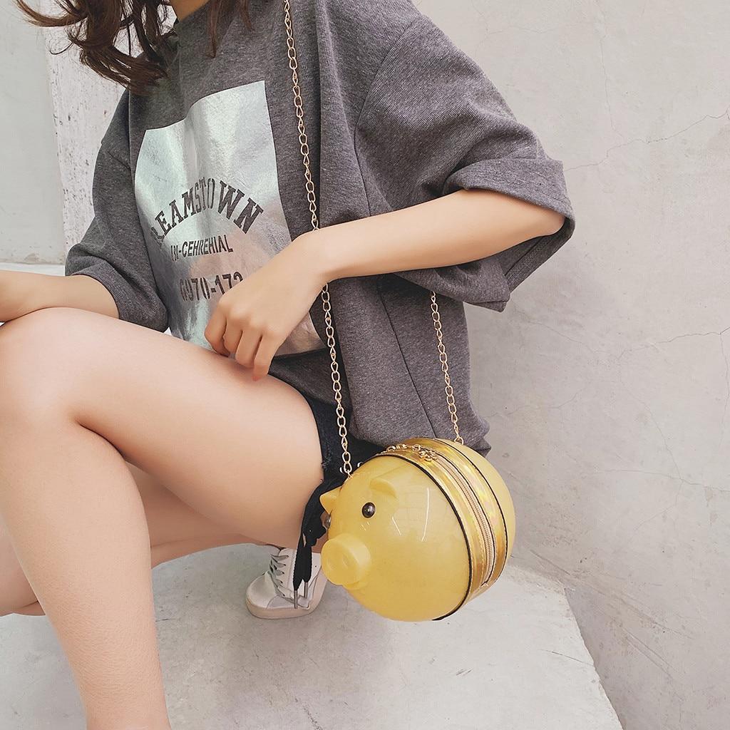 New Fashion Women Crossbody Bag Wild Cute Little Cute Pig Round Messenger Handbag Shoulder Bags Torba Damska #YJ