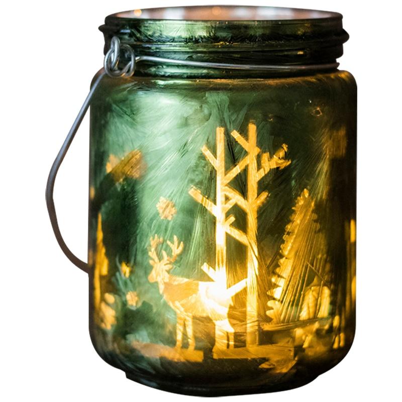 Soporte de vela, molde de cristal, tarro moderno europeo, romántico, Vintage, nórdico, de lujo, candelabro de cilindro decorativo KK60ZT