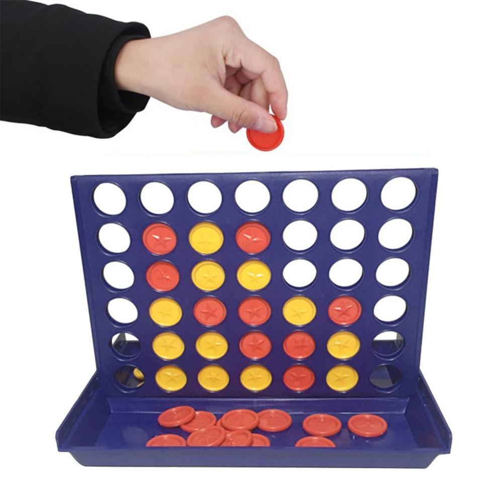 1 pcs new arrival hot sale connect four in a row 4 in a line board game kids children fun educational plastic challenging toy New Intelligent Game Toys Three-dimensional Four-game Chess Five Children's  In A Line Board Game Educational Toys