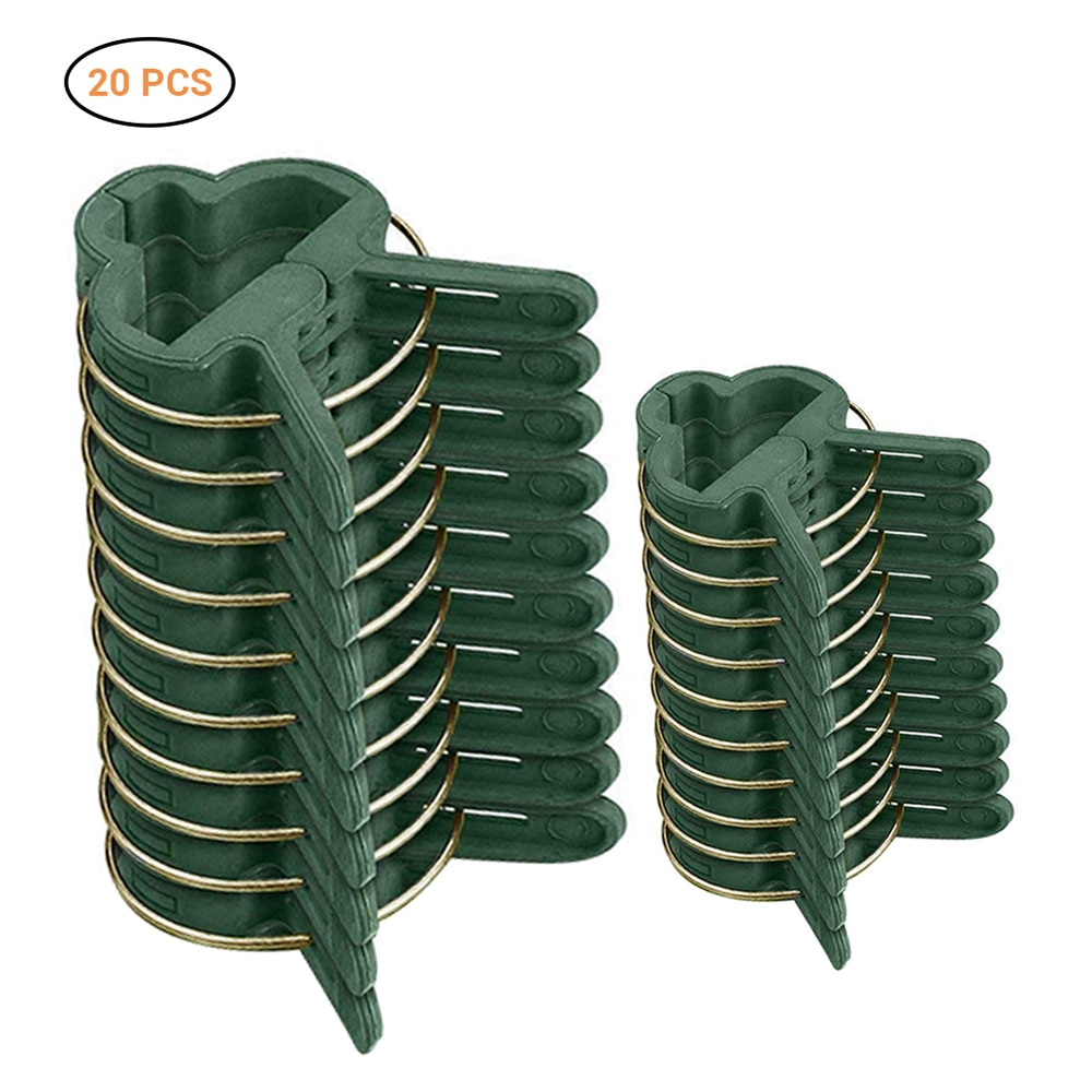 Plant Support Clips 20Pcs For Gardening Gentle Plant Flower Clamps For Vines Fixed Garden Accessories Supplies
