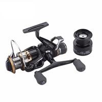 Carp Spinning Fishing Reels Left/Right Handle Metal Spool 9+1BB Stainless steel Shaft Rear Drag Wheel 1 Spare Plastic Spool