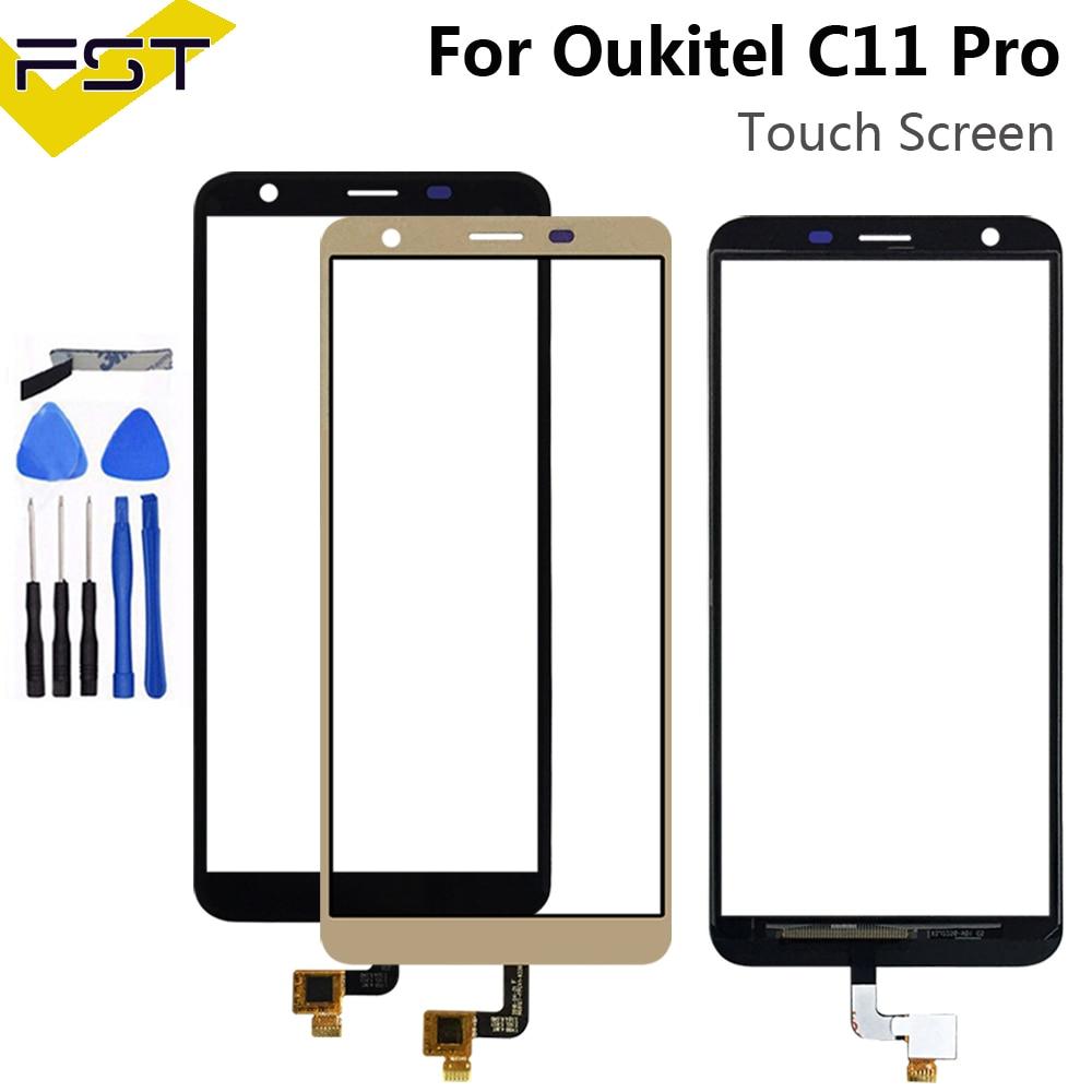 5,45 ''para Oukitel C11 Pro Digitalizador de pantalla táctil Sensor táctil reemplazo del ensamblaje del Panel para teléfono Oukitel C11 Pro con herramientas