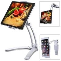 aluminum kitchen desktop tablet phone holder flodable adjustable 5 13 inch tablet phone stand for ipad air pro 12 9 living mount