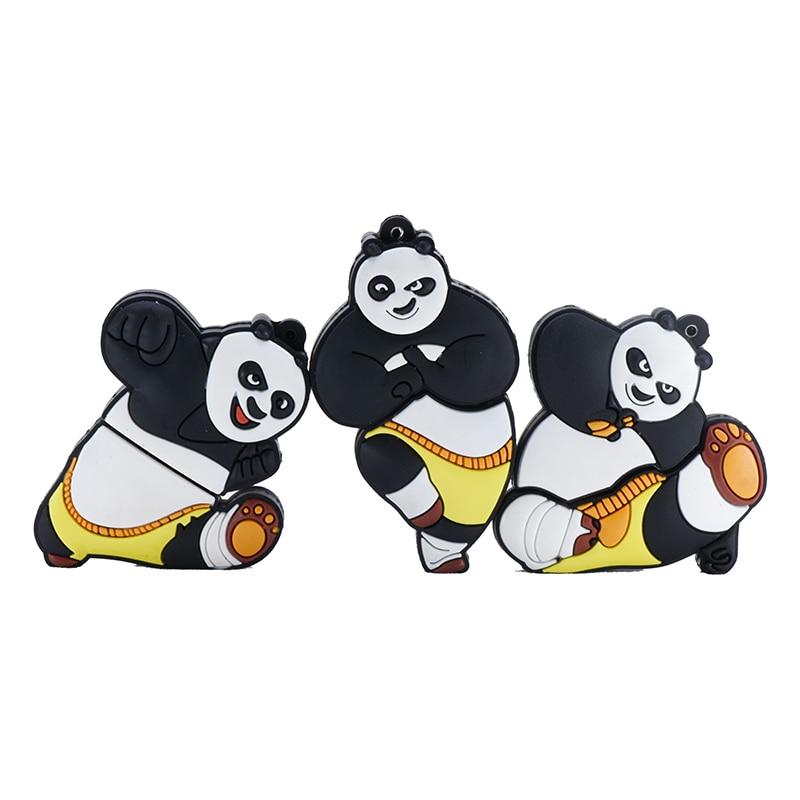 Kung Fu Panda unidad flash usb 32GB 16GB 8GB 4GB pendrive 64GB 128GB 256GB de dibujos animados usb stick anime pen drive U stick