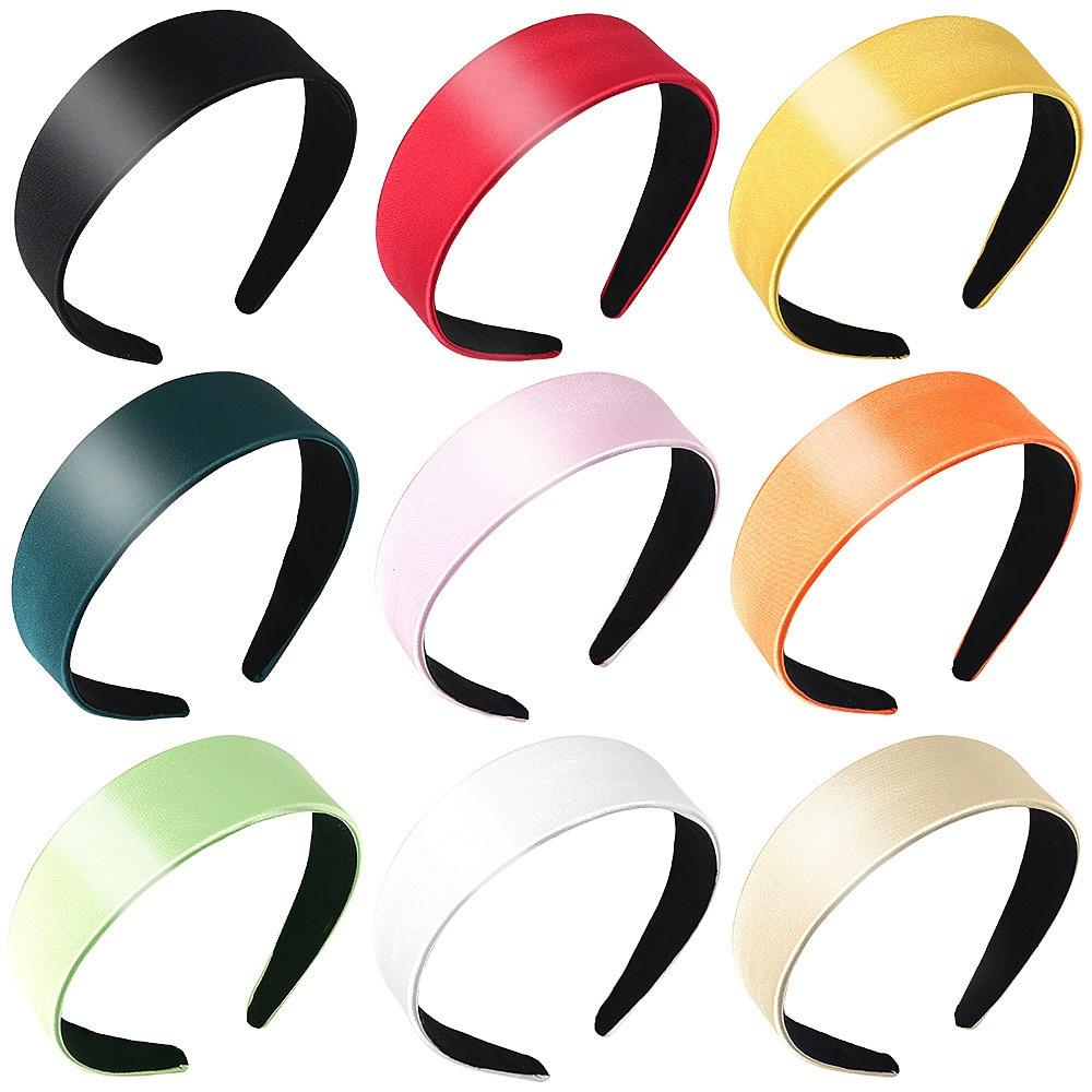 2020 nuevo amplio satén diadema deportiva diadema para mujeres niñas bandas para el cabello accesorios bandas para el cabello tocado Scrunchy