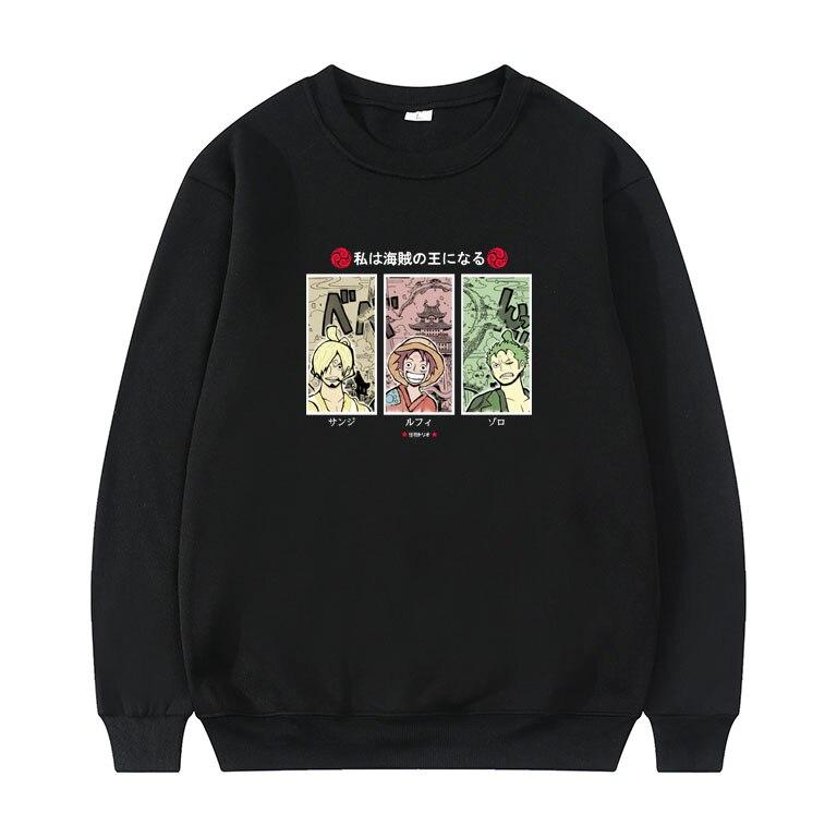 Японская аниме ONE PIECE Monkey D. Luffy Толстовка Roronoa Zoro пуловер Sanji Принт толстовки мужчины женщины модная повседневная одежда