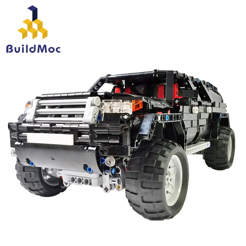 BuildMoc 1419 Uds creador de ciudades AWD Wagon bloques de construcción de automóviles para Technic RC Car AWD SUV Mk2 MOV ladrillos juguetes educativos para niños