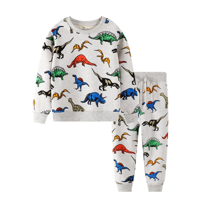 winter clothing children s clothing boys and girls 2 pieces set children s suits keep warm jackets and pants kids clothes Dinosaur Children Kids Clothing Sets Cartoon Spring Cotton Shirt and Pants Boys Long Sleeve Clothing Suits Kids Winter Sets