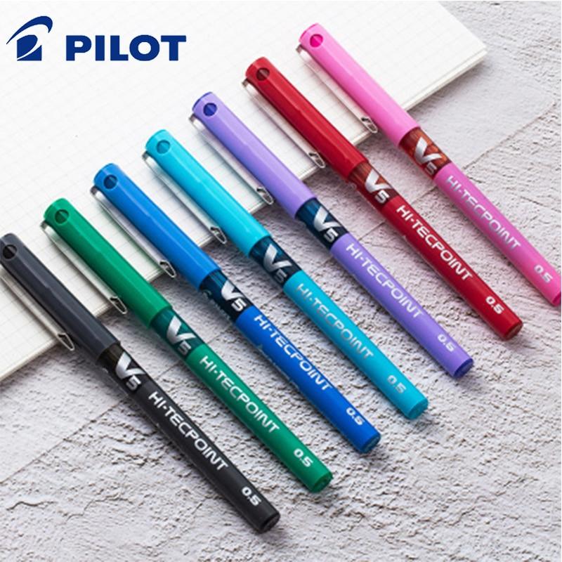 7 unids/lote Pilot V5 pluma de tinta líquida 0,5mm 7 colores para elegir BX-V5 bolígrafo estándar estilo de papelería de oficina y escuela