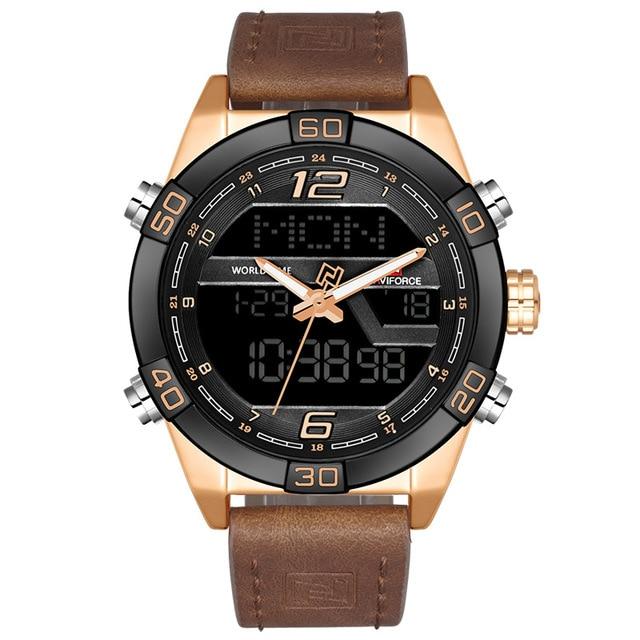 2020 nouvelle marque de luxe NAVIFORCE hommes montre de sport de mode hommes étanche quartz date horloge hommes montre en cuir