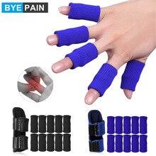 11Pcs/Set Finger Guard Sleeve Finger Splint Suit Adjustable Finger Support Splint for Trigger Finger