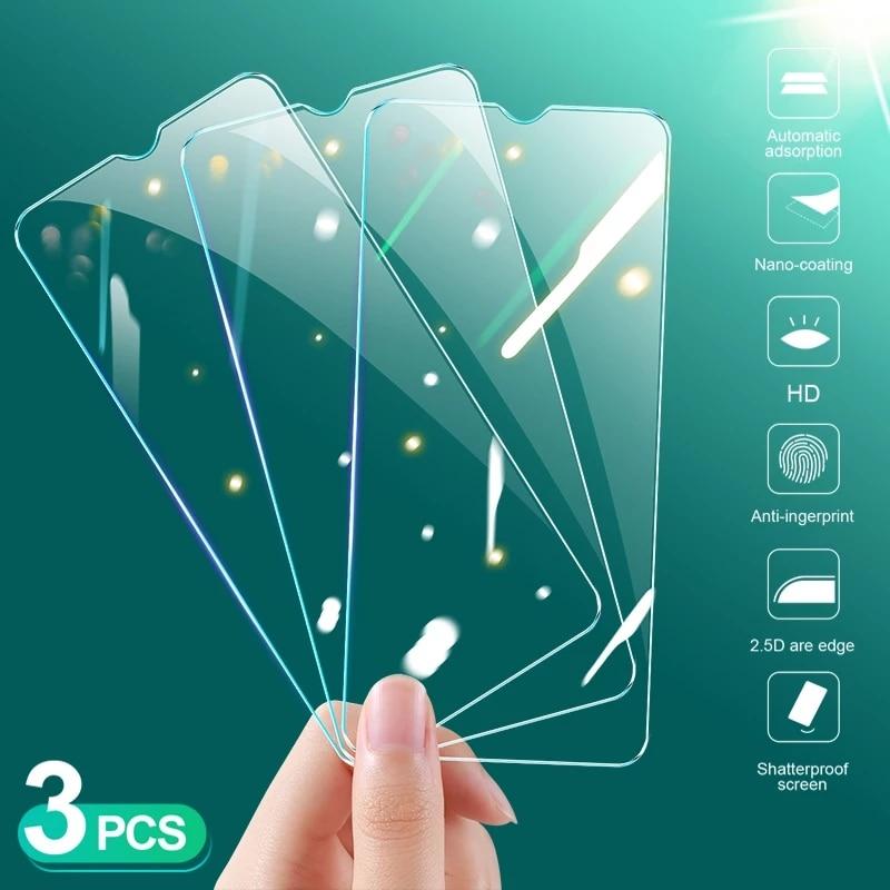 Protector de cristal templado para Xiaomi Redmi Note 8, 7, 6, 5, 9s, 9 Pro Max, 7, 8A, 9, K30, 3 uds.