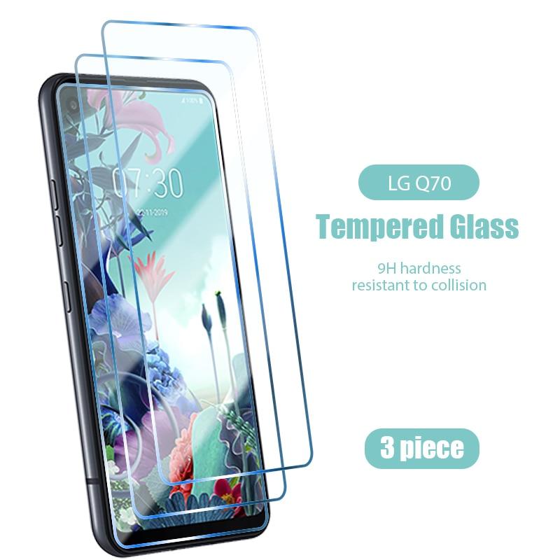 ¡3 uds! Vidrio templado para LG Q Stylus 4 Q6 Q7 Q8 (Plus) 2017 2018 HD vidrio protector transparente para LG Q9 Q51 Q60 Q61 Q70 Stylus 2