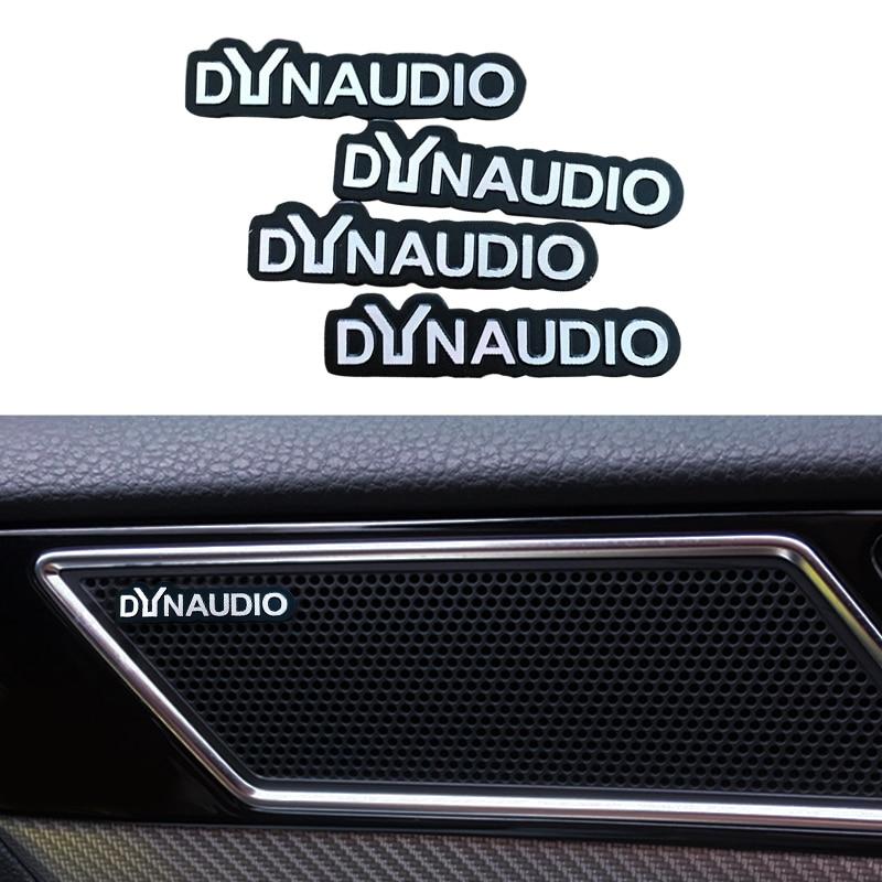 Accesorios de estilo de coche, pegatina interior 3D dynaudio alto-falante de audio,...