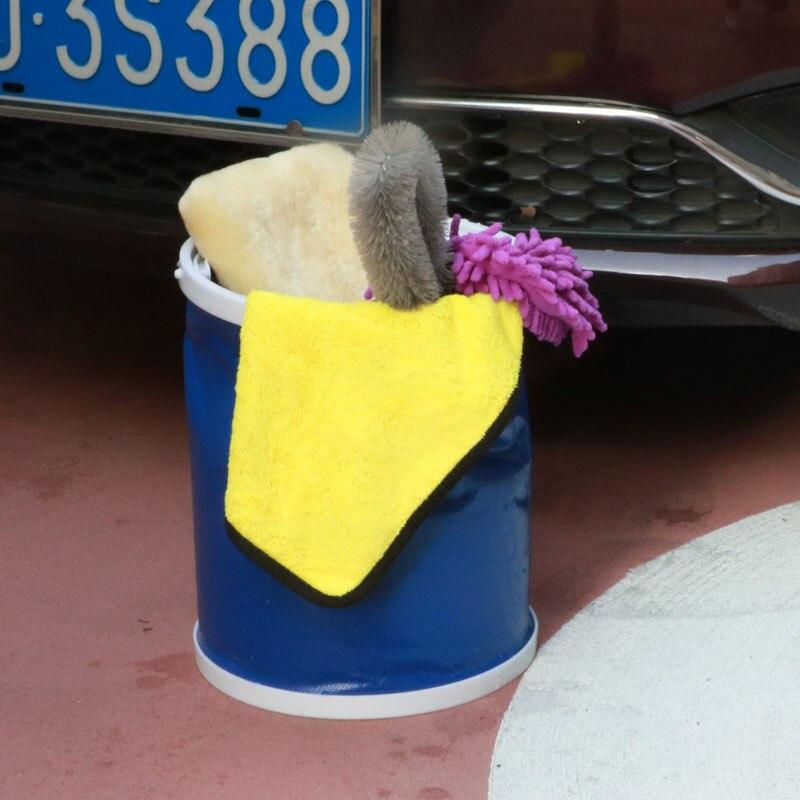 Viajar saco de lavagem balde dobrável de acampamento ao ar livre ferramenta de pesca para SEAT Arosa Ibiza Leon Toledo Exeo Alhambra Mii Supercopa FR alte